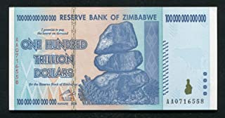 1 X 100 Trillion Dollars Zimbabwe, Uncirculated Note 100 Trillion Note 2008 Aa - genuine rare For collectors (Only 5 sets left)