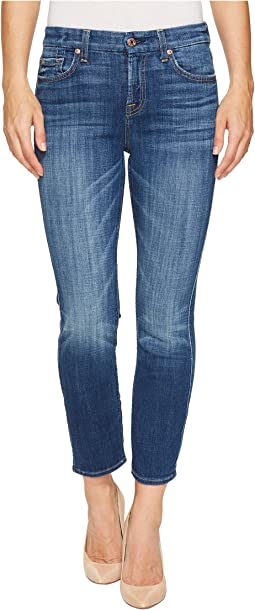 7 For All Mankind Kimmie Crop in Barrier Reef Broken Twill