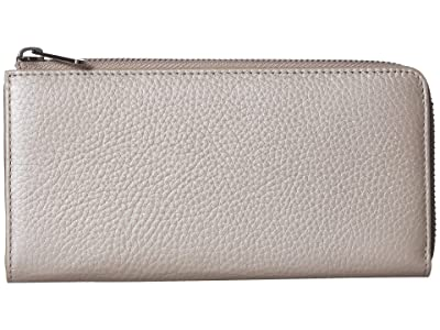ECCO SP 3 Large Zip Around Wallet (Grey Rose Metallic) Wallet Handbags