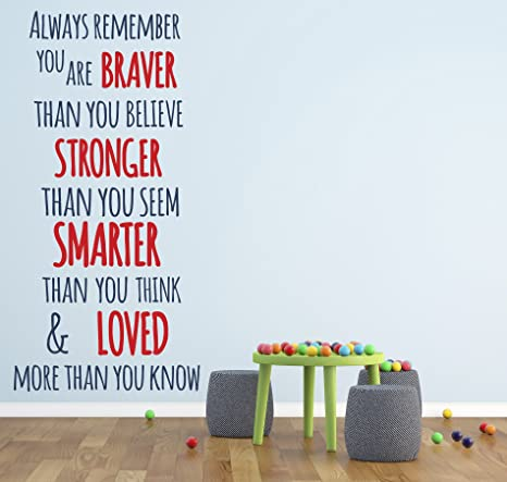 Vinyl Decal Always Remember You Are Braver