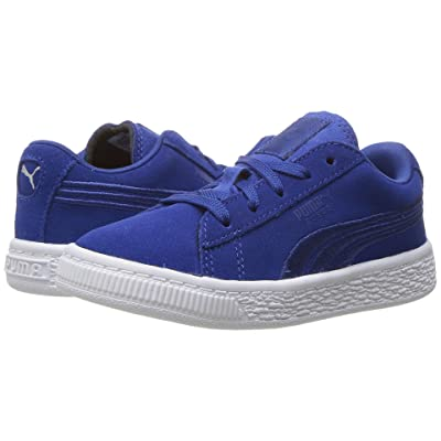 Puma Kids Suede Classic Badge INF (Toddler) (Blue) Boys Shoes