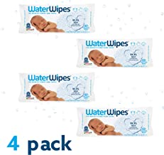 WaterWipes Toallitas Húmedas Para Bebé, color Blanco, 240 count, pack of/paquete de