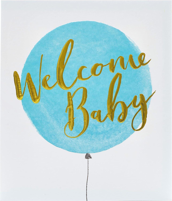 New Baby Card, Baby Boy Congratulations Card, Birth Congratulations Card  for New Mum, Welcome Baby Boy Blue Card