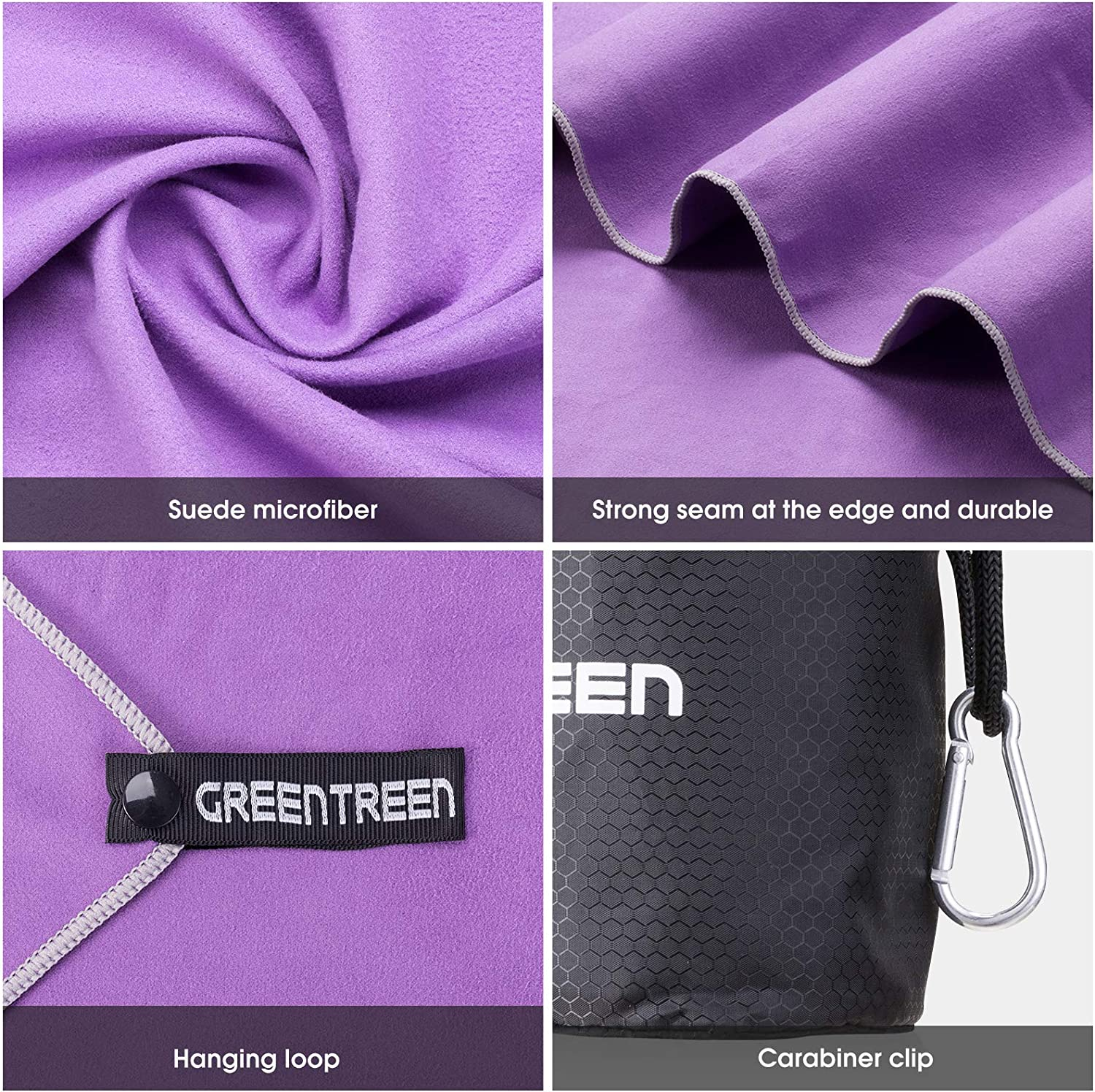 Quick Dry Travel Towel /& Sport Towel AMEXI Outdoors Microfiber Camping Towel Fast Drying Lightweight 2 Size