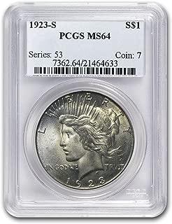 1923 S Peace Dollar MS-64 PCGS $1 MS-64 PCGS
