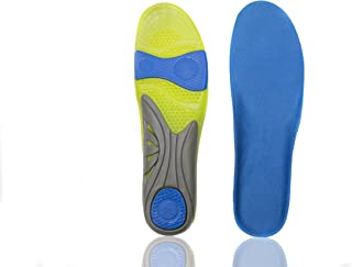 Healifty 1 Pair of Orthotic Arch Support Shoe Inserts Breathable Shock Absorption Shoe Insoles Flatfoot Correction Pads Size L 41-46