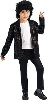 Michael Jackson Child's Deluxe Billie Jean Sequin Jacket Costume Accessory, Large