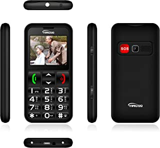 T11 Unlocked Senior Cell Phone, Easy to Use SOS Basic Phone with Big Buttons and High Volume