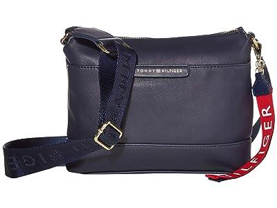 Tommy Hilfiger Lottie Smooth PVC Crossbody (Tommy Navy) Cross Body Handbags