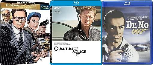 MI5 and the Secret Service - James Bond Dr. No and Quantum of Solace and Kingsman: The Secret Service Exclusive Steelbook 3-Movie Blu-ray Action Bundle