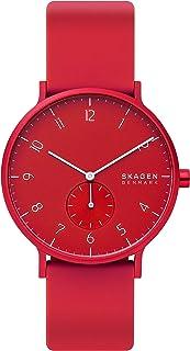 Skagen Aaren Men's Red Dial Silicone Analog Watch - SKW6512