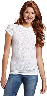 Soffe girls womens256VR-PJuniors Burnout Crew Neck Shirt Shirt