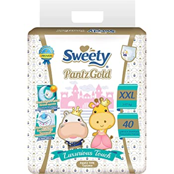 Sweety Fit Pantz Gold Series Super Jumbo Pack Baby Diapers (Size: Double Extra Large - 17 kgs +, Count:40)