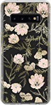 Kate Spade New York Phone Case | for Samsung Galaxy S10 | Protective Clear Crystal Hardshell Phone Cases with Slim Floral Design and Drop Protection - Blossom Pink/Gold with Gems