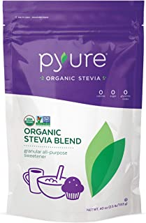 Pyure Organic Stevia Sweetener Blend, 2:1 Sugar Substitute, Granular All-Purpose, 2.5 Pound (40 Ounces)