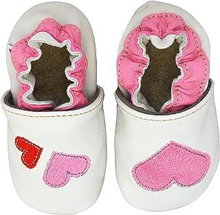 43eea1ebe5c BeKiddy Zapatos de bebé para niños Niña Pequeña - Cuero - Zapatillas de  bebé Zapatos de