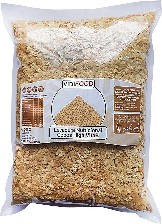 VidiFood Levadura Nutricional Enriquecida Con Vitamina B12, Superalimento De Levadura Inactiva - 1kg