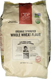 One Degree Organic Sprouted Whole Wheat Flour, 80 Ounce -- 4 per case.4