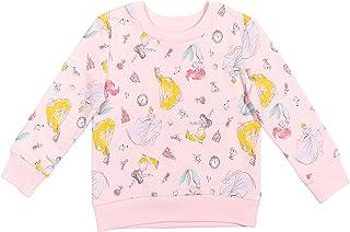 Disney Princess French Terry Pullover Sweatshirt: Mulan Cinderella Belle Ariel Moana