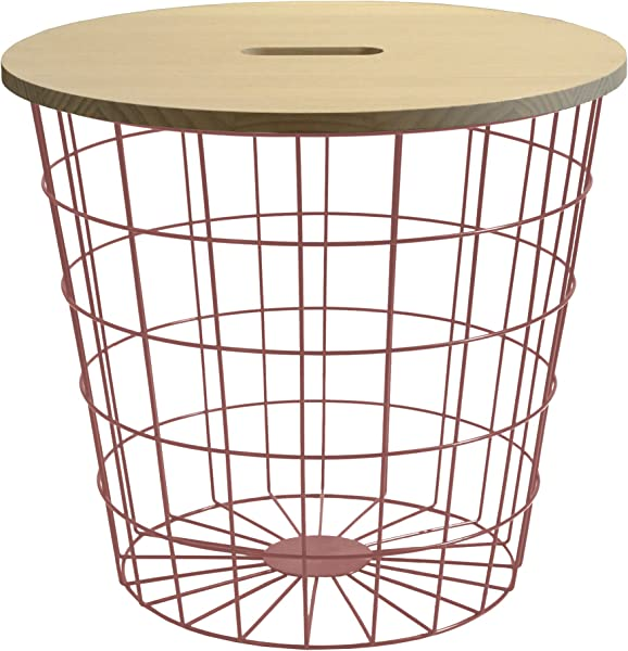 Urban Shop WK639933 Storage Bin Rose Gold