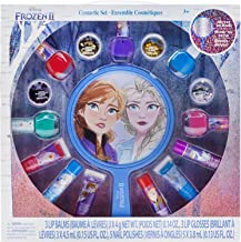 My Party Suppliers Disney Frozen 2 Non-Toxic Peel-Off Nail Polish, Lip Gloss and Mirror Set for Girls, Glittery and Opaque...