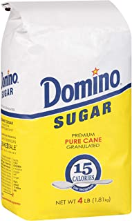 DOMINO GRANULATED PURE CANE WHITE SUGAR 4 LB BAG (Single)