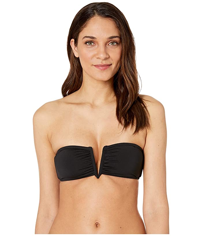 Seafolly Active V Wire Bandeau (Black) Women