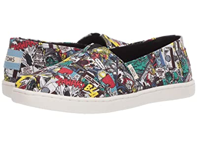TOMS Kids Alpargata (Little Kid/Big Kid) (Multi Marvel Comic Pop Print) Kid