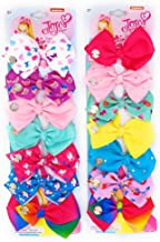 JoJo Siwa Hair Bows (Bundle Of 14 Bows) 7 Days Of The Week Hair Clips For girls