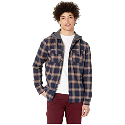 Quiksilver Snap Up Long Sleeve Hoodie (Praline) Men