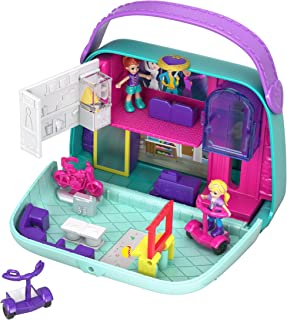 Polly Pocket Pocket World Mini Mall Escape Compact with Surprise Reveals, Micro Dolls & Accessories [Amazon Exclusive]