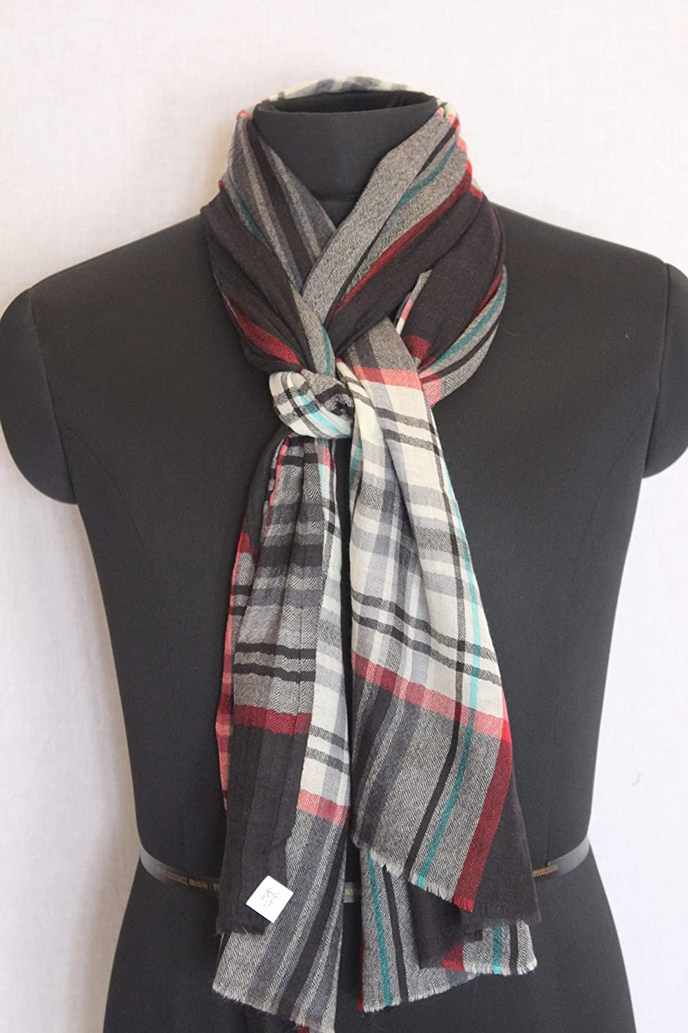 New Burberry Design Indian Checks Pattern Scarf Wrap Soft Wool Stole Unisex Neck Wrap Scarves