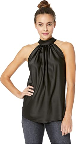 Satin Tie Neck Top