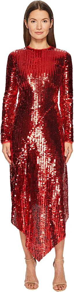 Clarissa Sequin Long Sleeve Dress