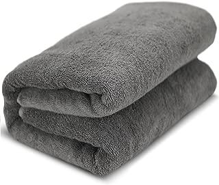 Towel Bazaar 100% Turkish Cotton Multipurpose Towels-Large Bath Sheet/Beach Towel/Bath Towel, Eco-Friendly (Oversized 40x80 inches, Gray)