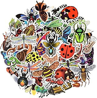 Waterproof Nature Vinyl Stickers Pack for Laptop Scrapbooking for Kids (50 Pcs Insect Style)