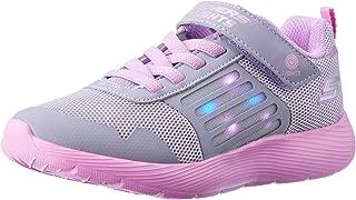 Skechers Dyna-Lights Girls Sneakers, Grey/Lavender