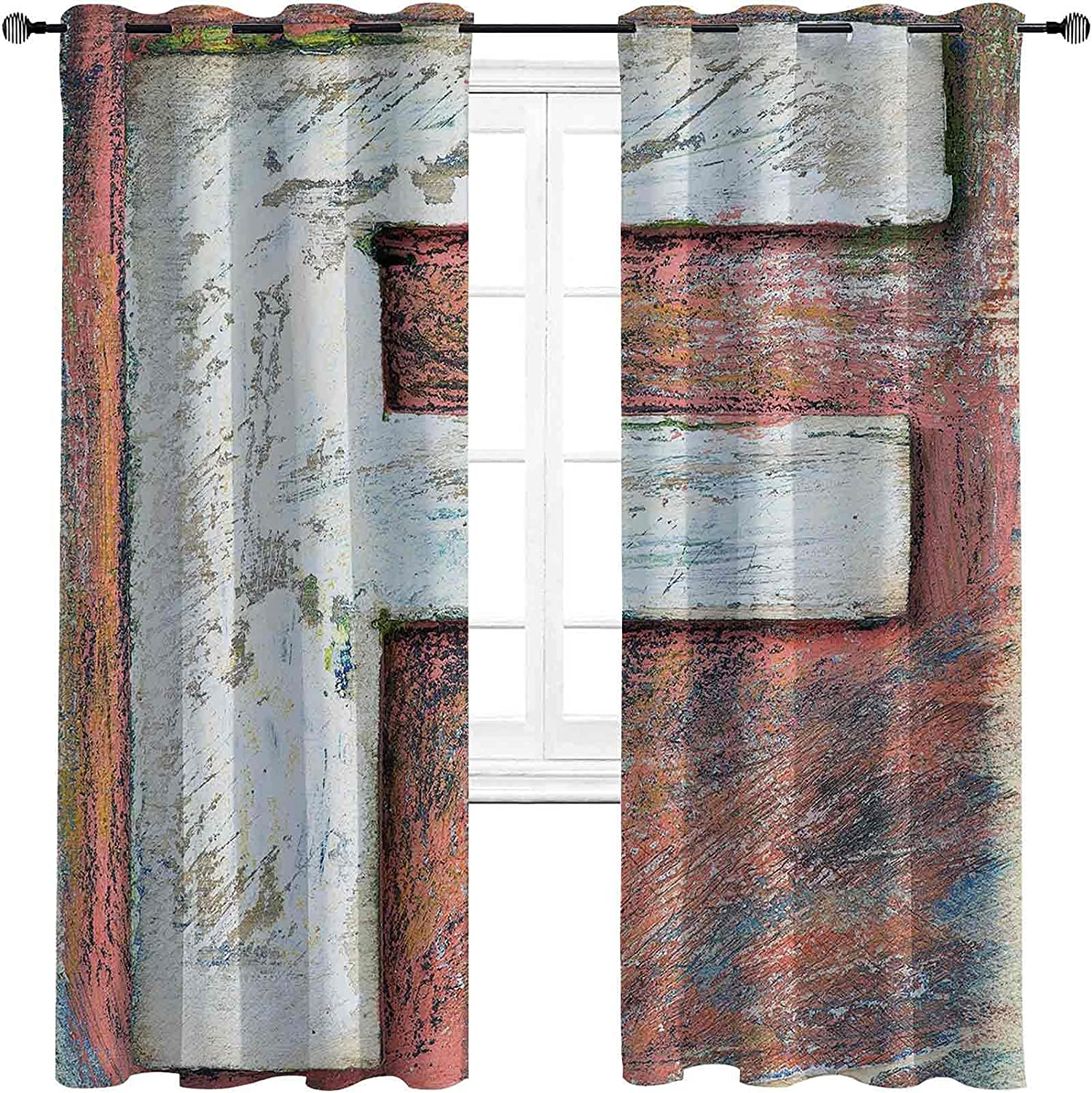 Letter F OFFicial store Bedroom Blackout Curtains 2021 spring and summer new Grunge Design Typographic Al