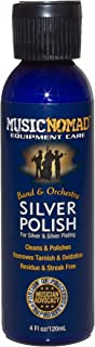 Music Nomad MN701 Silver Polish for Silver and Silver-Plated Instruments, 4 oz.