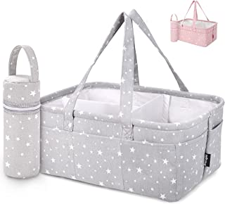 Unique Baby Diaper Caddy Organizer - Large Nursery Storage Bin for Changing Table | Car Travel Tote Bag | Boy Girl Shower ...
