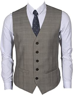 Ruth&Boaz Men's 2Pockets 5Buttons Business Suit Waistcoat