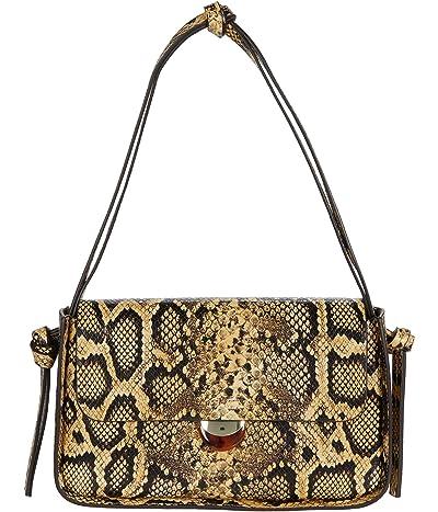 Loeffler Randall Maggie Turned Out Baguette with Flap (Sahara) Handbags