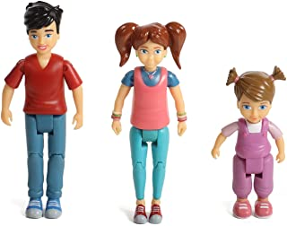 Beverly Hills Sweet Li'l Family Dollhouse People Set of 3 Action Figure Set: Boy, Girl, and Toddler
