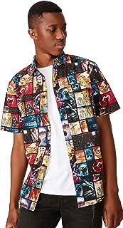 Cotton On Men's Collaboration Short Sleeve Shirt, Starwars Poster