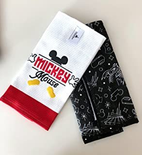 Disney Parks Mickey Mouse Body Parts Kitchen Dish Towel Set of 2