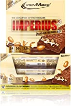Ironmaxx Imperius Sugar ReducedA aE A 36 ProteinA aE A 3 A aE A Almond 1A Pack of 108A g Estimated Price : £ 57,47