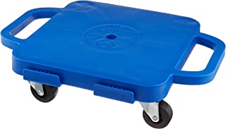 Sammons Preston Plastic Scooter Board,  Handled Scooter Seat with Swivel Casters for Children,  12 Square