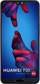 "Huawei P20 EML-L09 128GB 4GB RAM, Dual SIM LTE, 5.8"", Full HD+ Display -Dual Camera 20 MP +12 MP, GSM Unlocked International Model, No Warranty (Black)"