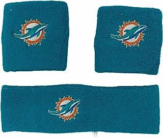 NFL Miami Dolphins Wristband Headband 3-Piece Set with Team Logo