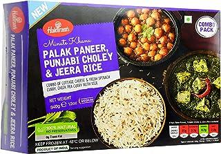 Haldirams Palak Paneer, Punjabi Choley and Jeera Rice - Frozen, 340g
